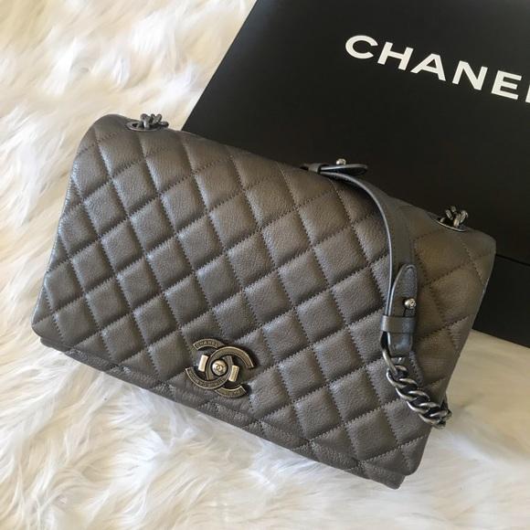e111e640b6598b CHANEL Bags | City Rock Goatskin Metallic Flap Bag | Poshmark